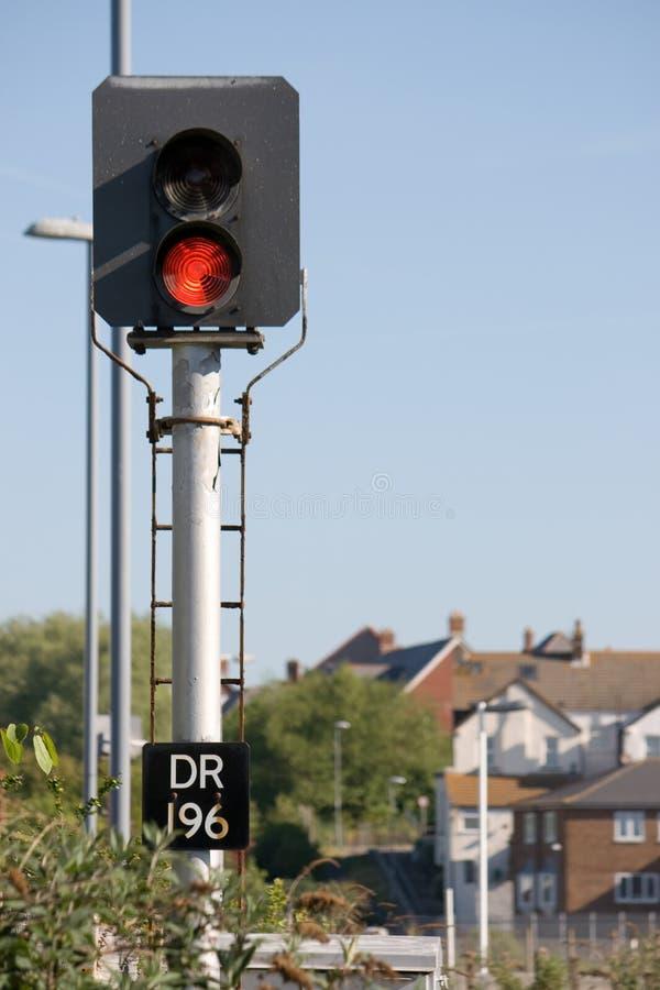 Red stop light stock photos