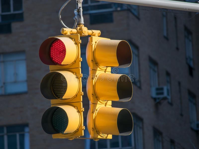 Red Stop Light royalty free stock photo