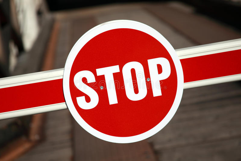 Download Red stop sign stock photo. Image of barrier, photography - 19095164