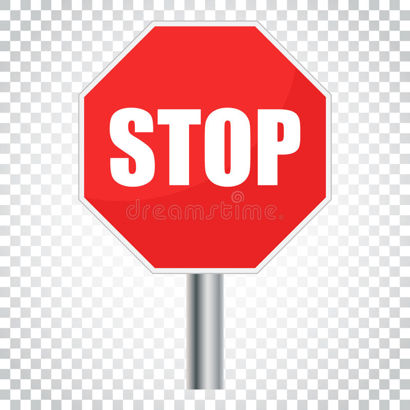red stop sign vector icon danger symbol vector illustration si rh dreamstime com stop sign vector free stop sign vector art free