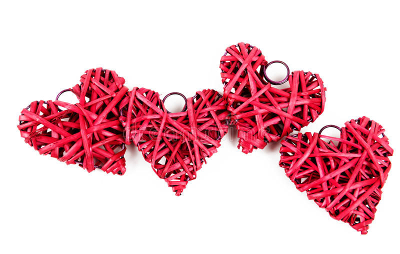 Download Red straw hearts stock photo. Image of line, shape, passion - 29022136