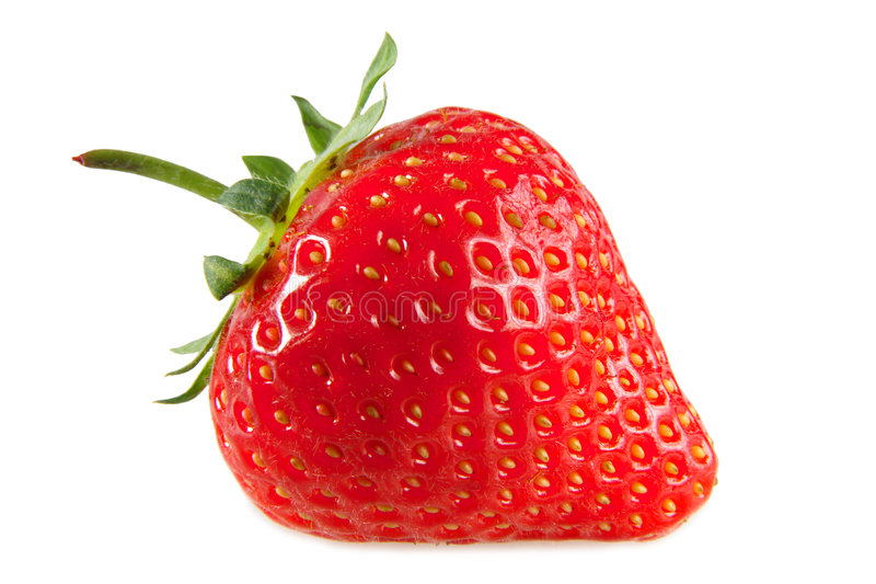A red strawberry. royalty free stock photo