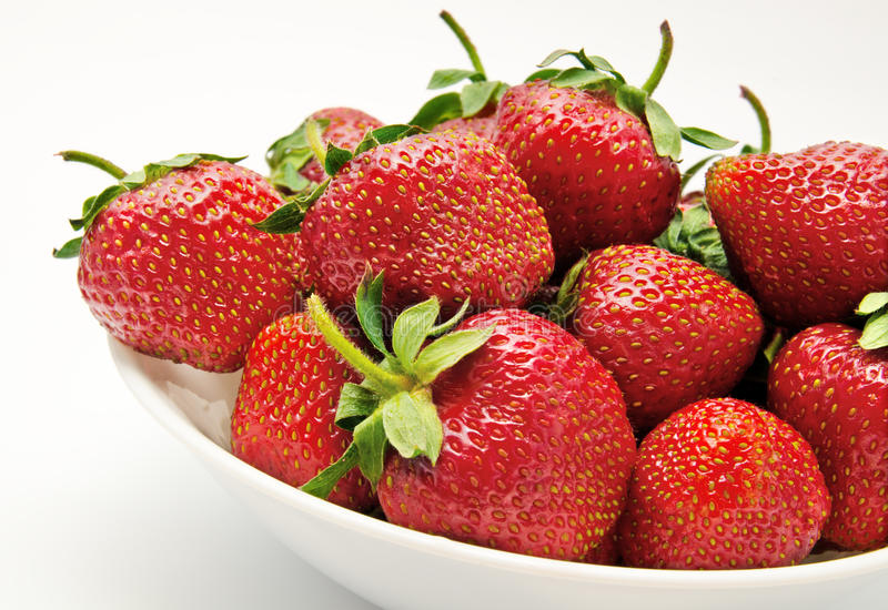 Download Red strawberry in the bowl stock image. Image of ripe - 25153723