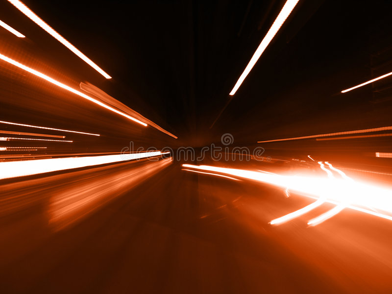 Red Street Blur royalty free stock image