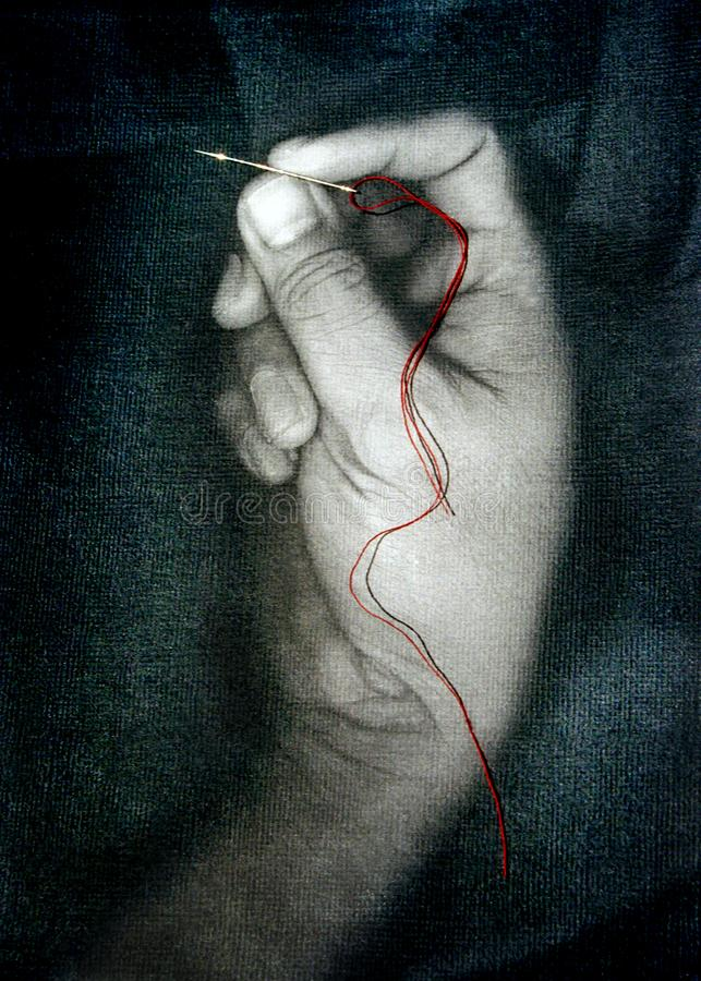 The Red String stock photos