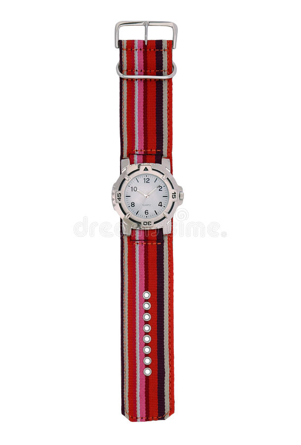 Free Red Striped Watch Royalty Free Stock Photography - 15362357