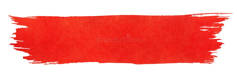 Red stroke of paint brush stock illustration