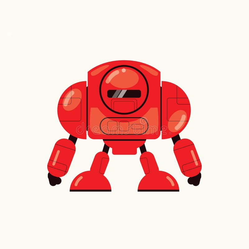 Red strong Robot Vector vector illustration