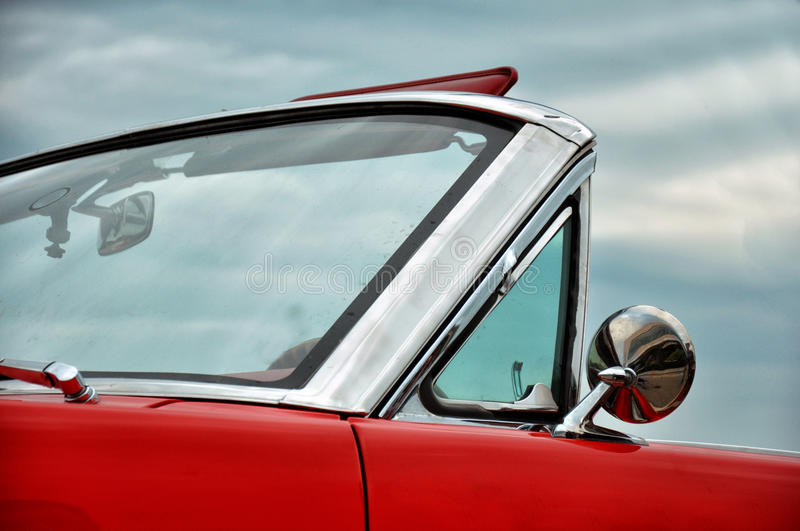 Red stylish car royalty free stock images