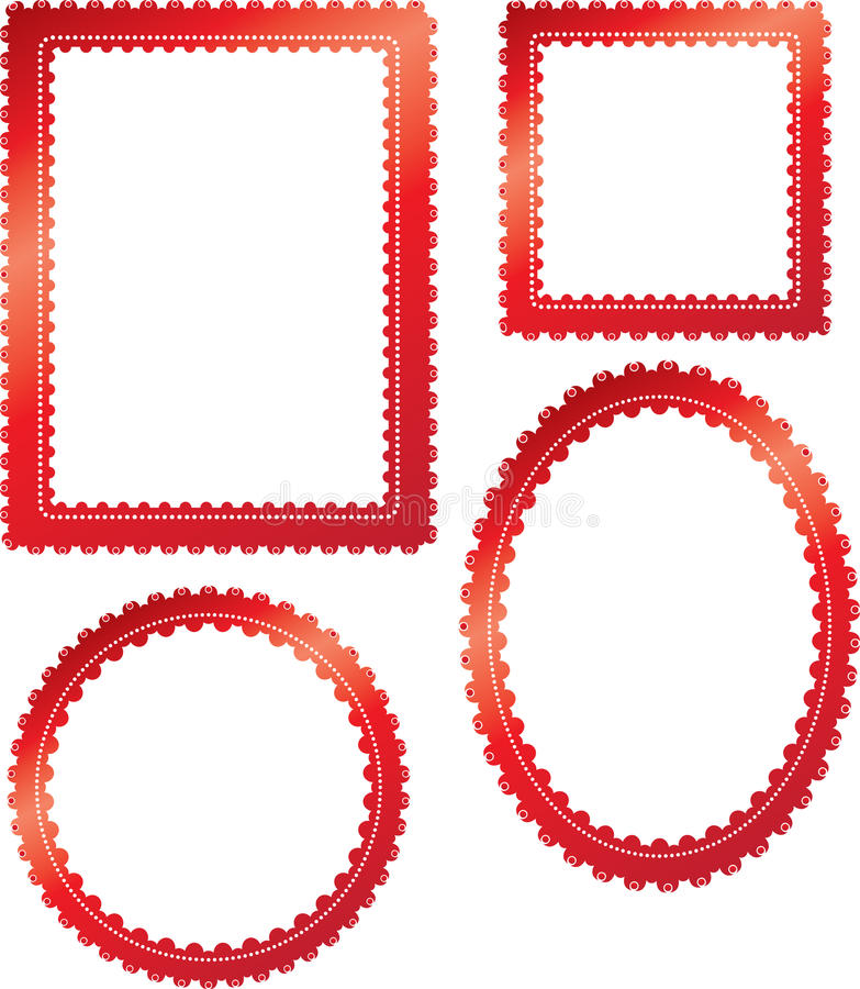 Download Red stylish frames stock illustration. Illustration of cotton -  9580795