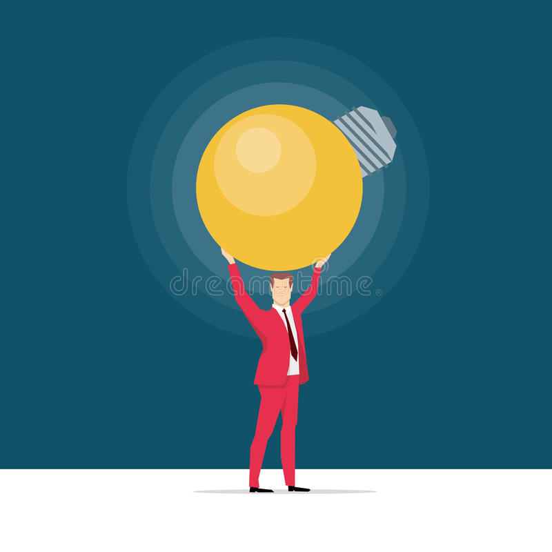 Red suit businessman royalty free illustration