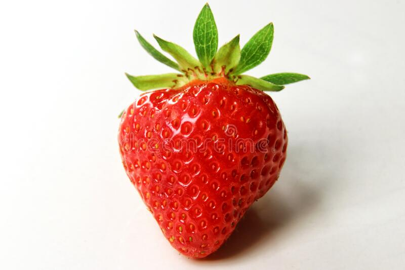 Red summer strawberries, seasonal fruit, macro royalty free stock image