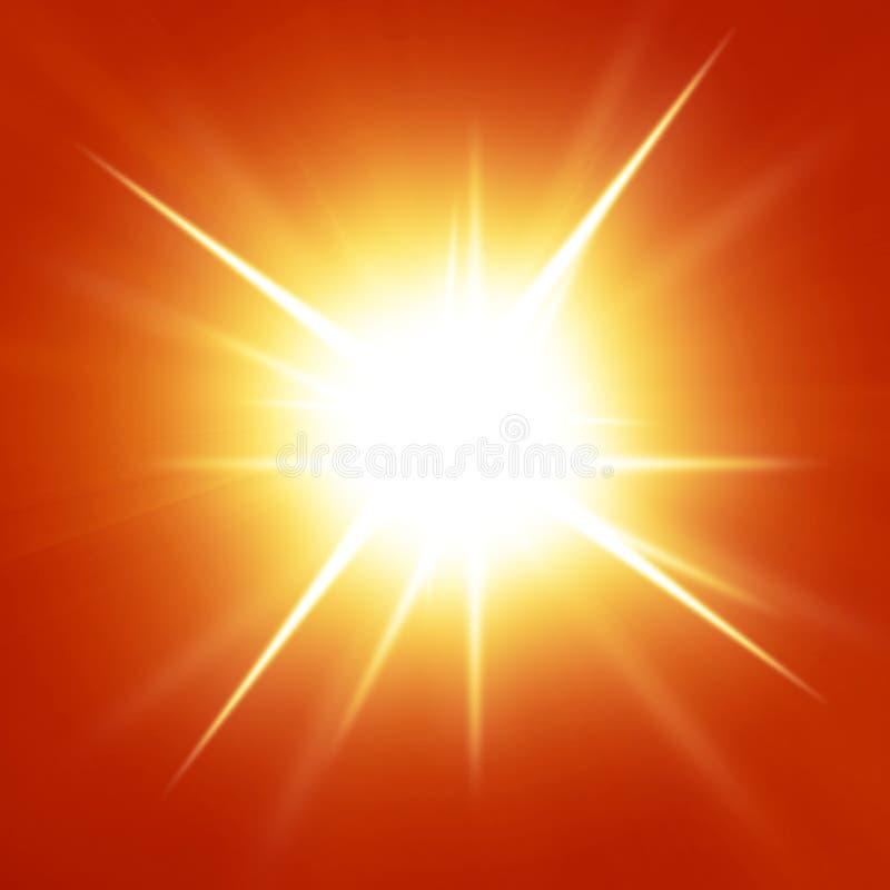 Download Red summer sun stock illustration. Illustration of glowing - 33289764