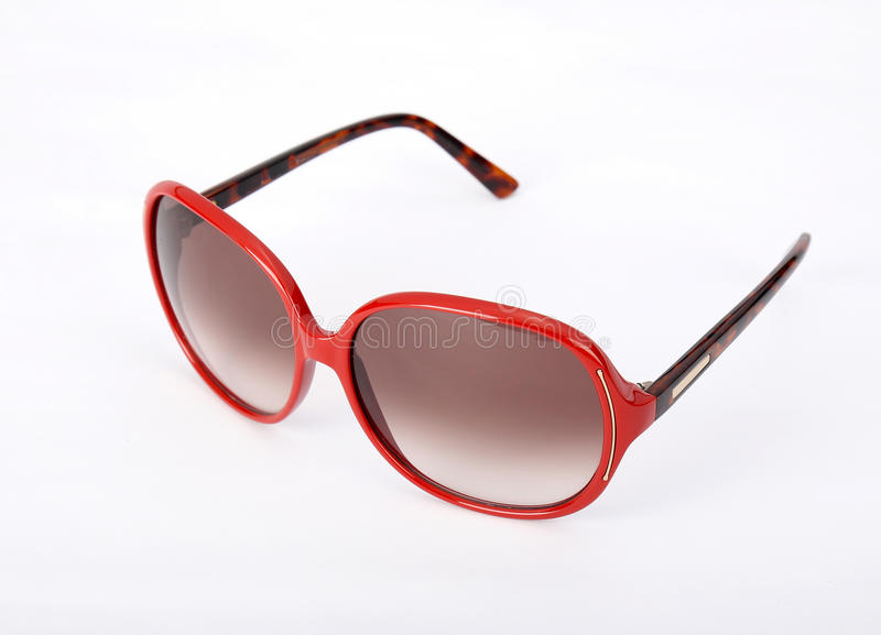 A red Sun glasses stock photo