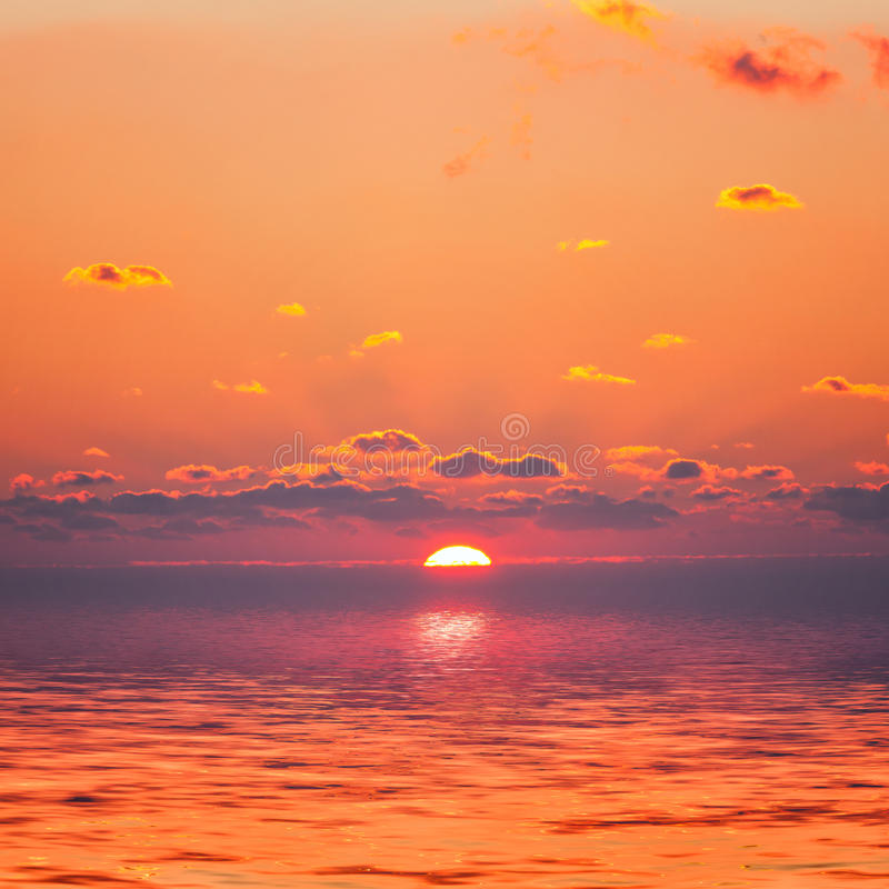 Red Sunrise Stock Image