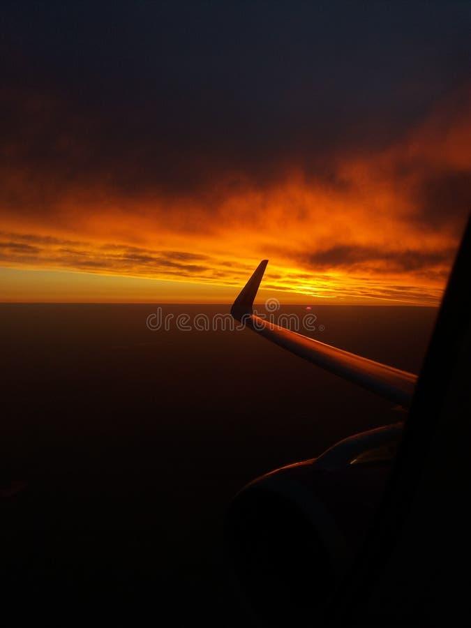 Red sunrise stock photos