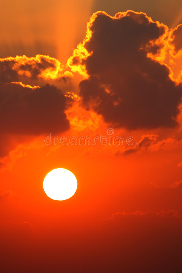 Red Sunset And Cloudscape Royalty Free Stock Image