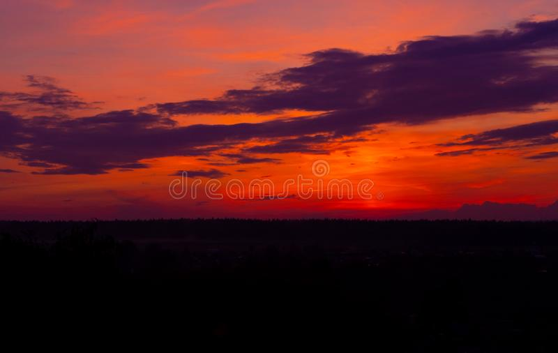 Evening sky at sunset background royalty free stock image