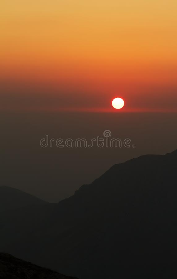 Red sunset in Japanese style stock photography
