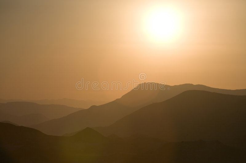 Red Sunset with Lens Flare royalty free stock photo