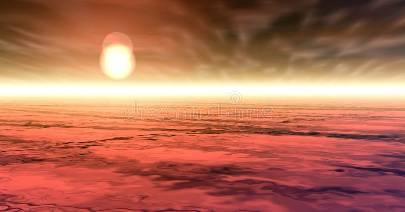 Red sunset over cloudscape royalty free stock photo