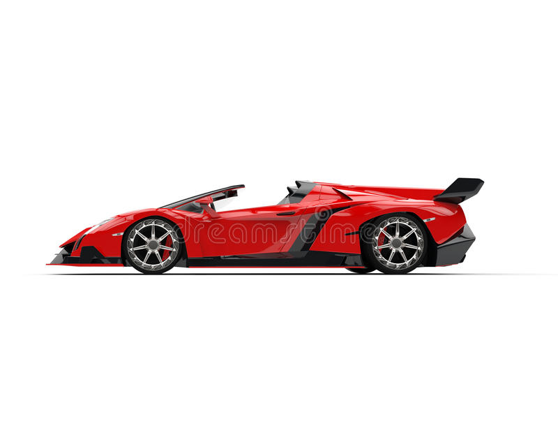 Download Red Supercar - Side View Stock Illustration. Illustration Of  Automobile 66970670 R