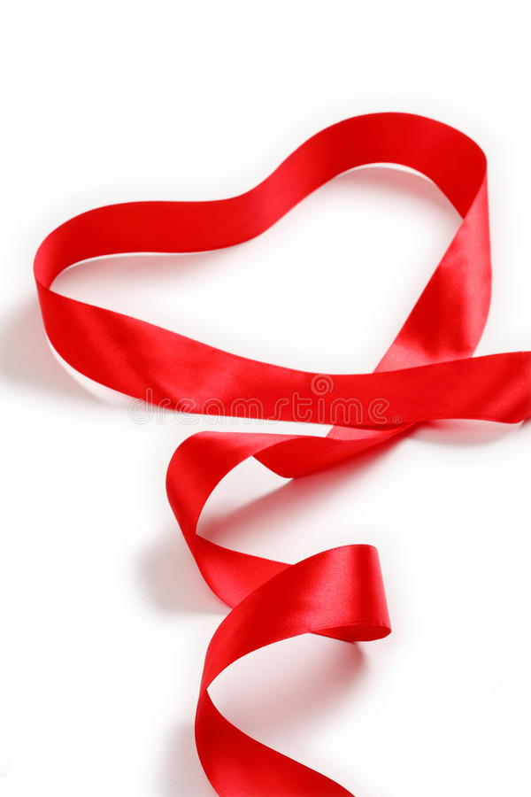 Free Red Support Ribbon On White Background Stock Images - 25366884