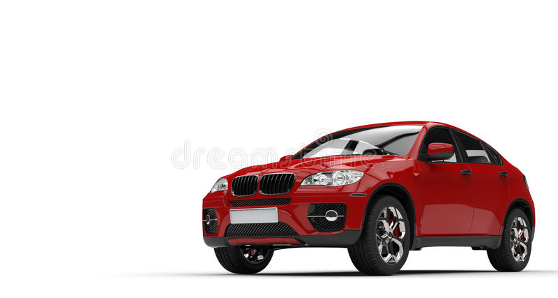 Red SUV. Isolated on white background royalty free stock photos