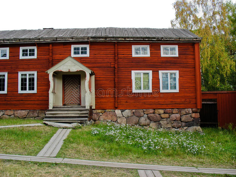 Nice Download Red Swedish Cabin Stock Image. Image Of Colors, Ecological    25773829
