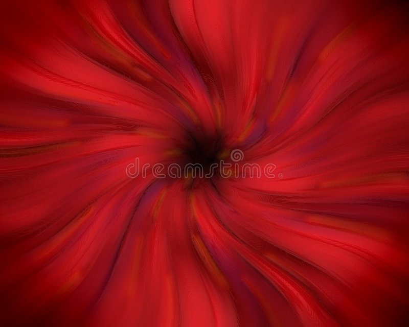 Red swirling vortex. An abstract red swirling pastel vortex royalty free stock image