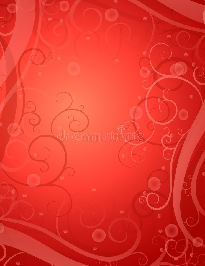 Red Swirls and Bubbles stock illustration
