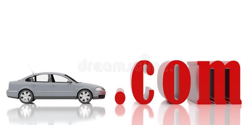 Red symbol com. High resolution image. 3d illustration. Red symbol com stock illustration