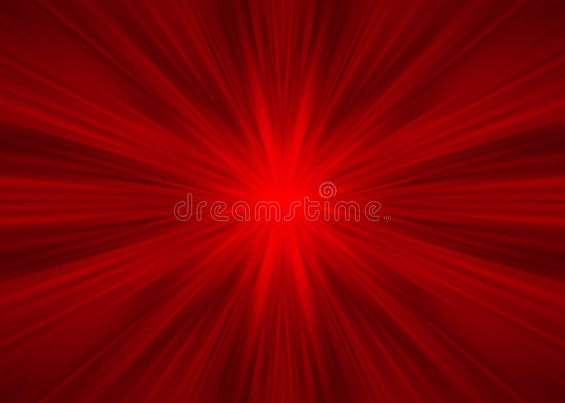 Red symmetrical rays stock illustration