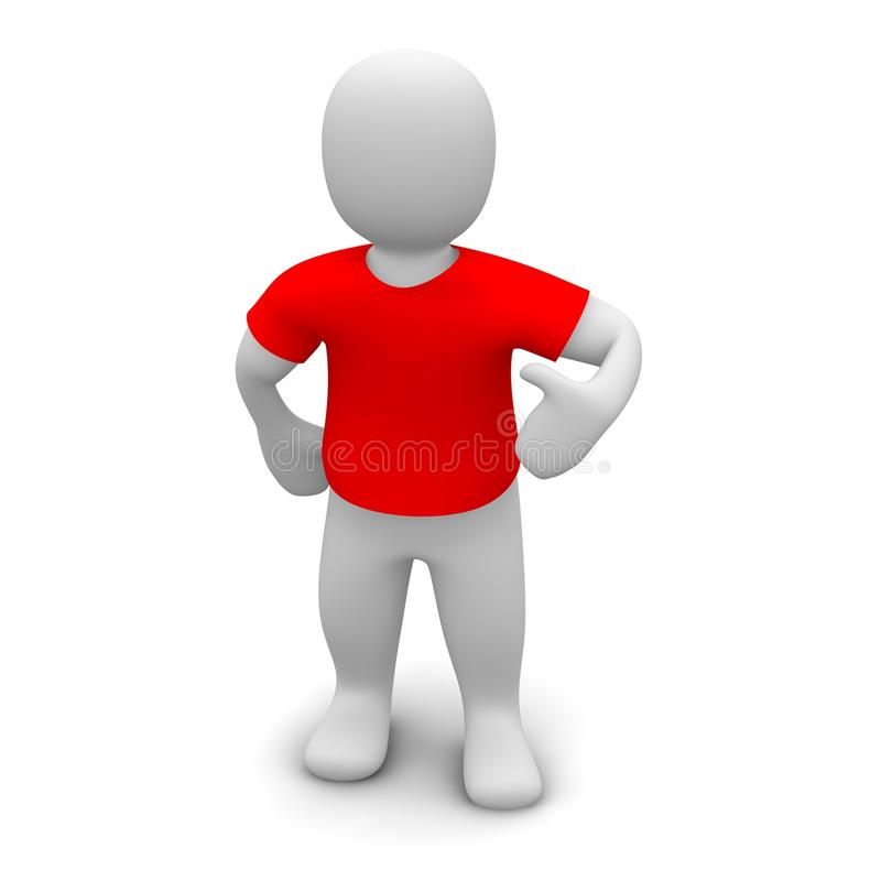 Red t-shirt royalty free illustration