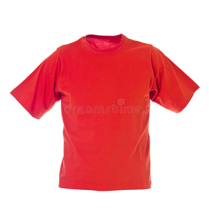 Download Red T-shirt stock image. Image of copy, blank, isolated - 18820777