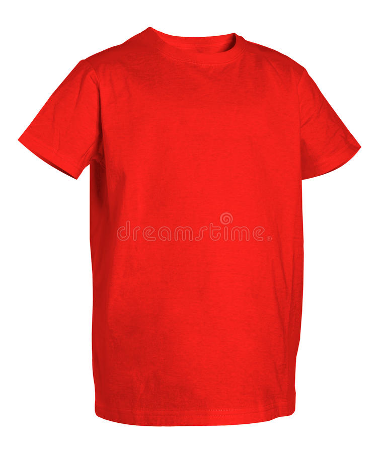 Download Red t-shirt stock image. Image of background, white, size - 27027939