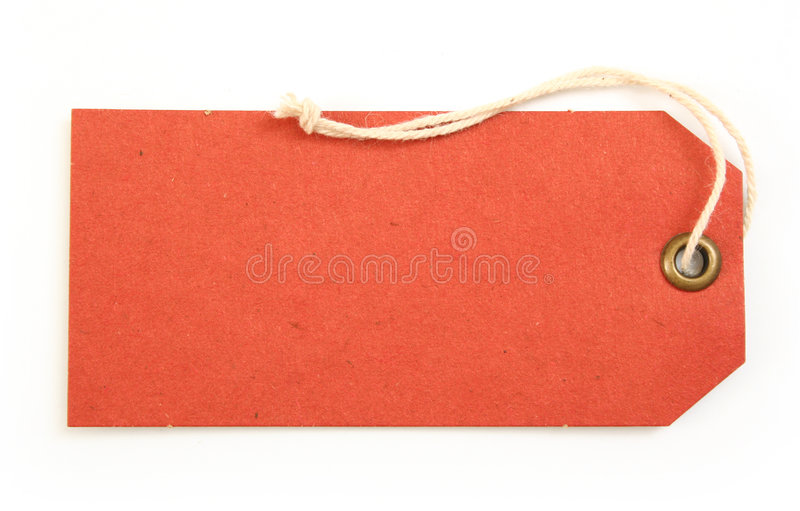 Download Red tag stock photo. Image of label, announce, rope, attach - 3504264