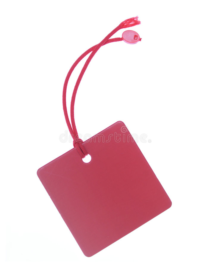 Download Red tag with clipping path stock photo. Image of recycled - 2302904
