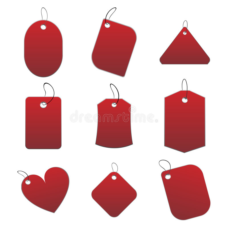 Download Red tags stock vector. Illustration of love, mark, etiquette - 6518884