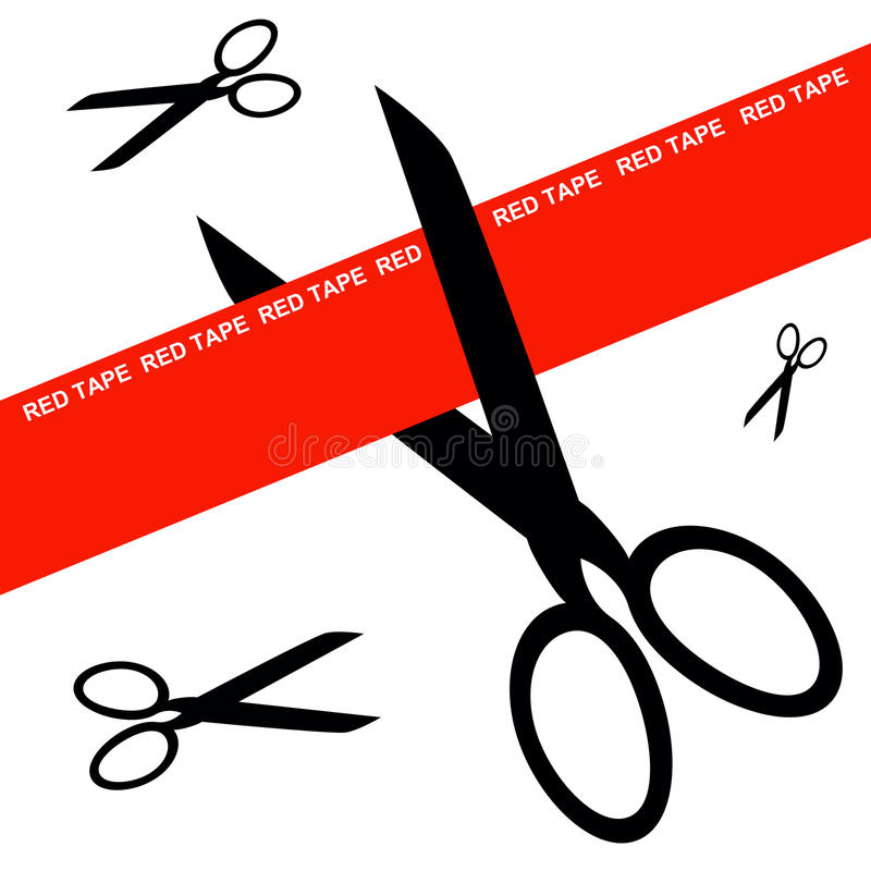 Red Tape Royalty Free Stock Photos