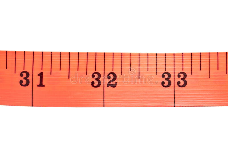 Red tape measure stock image