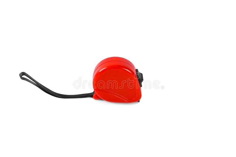 Red tape measure isolated on a white background royalty free stock image