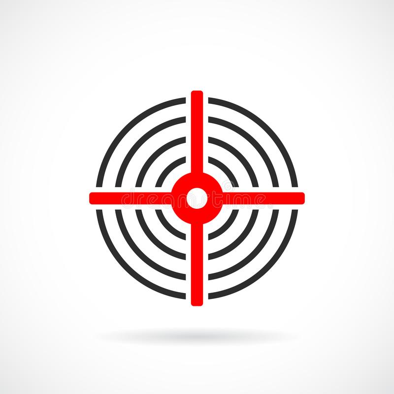 Red target vector icon royalty free illustration