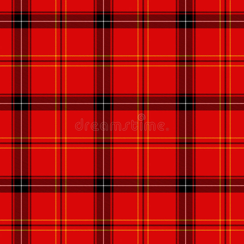 Red tartan stock illustration