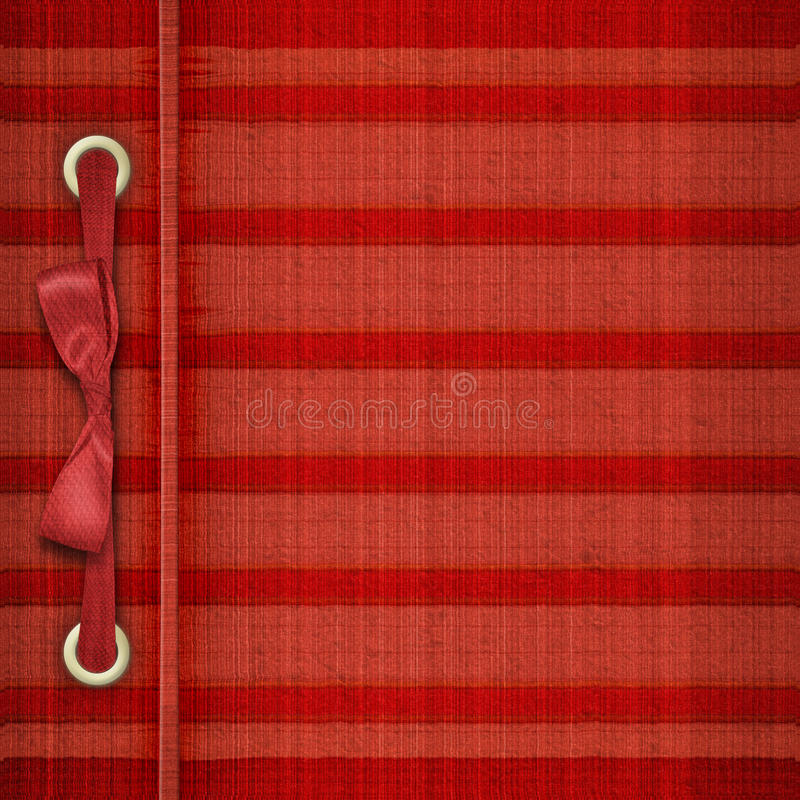 Download Red Tartan Cover For Album Royalty Free Stock Photos - Image: 17395878