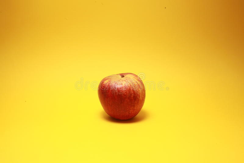 Red tasty apple royalty free stock photo