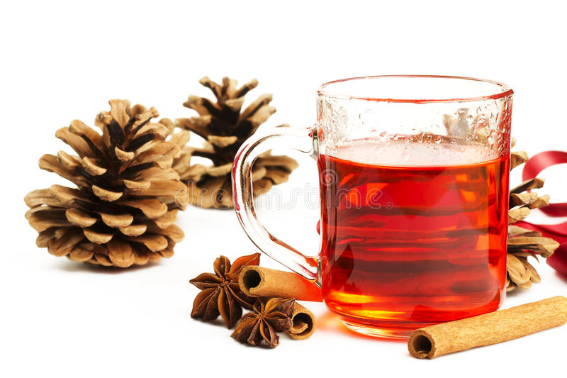 Download Red Tea Cinnamon Conifer Cone And Anise Royalty Free Stock Photography - Image: 15556807