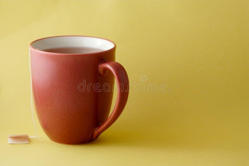 Red tea mug stock photo