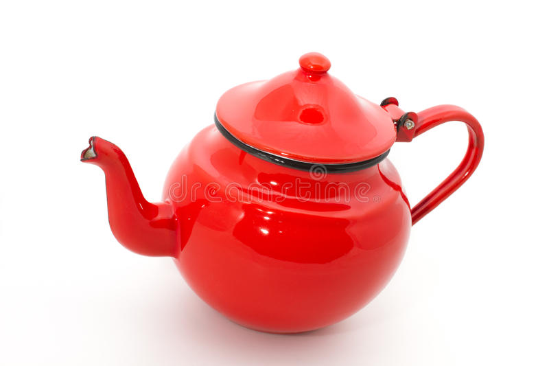 Red teapot stock images