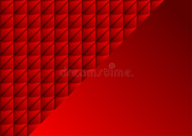 Red tech geometric mosaic 3d triangles abstract background stock images